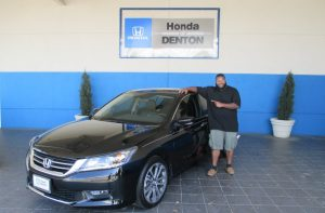 Chris Small bought a ticket for the Community Support Raffle last year and won a 2015 Honda Accord Sport from Honda of Denton.