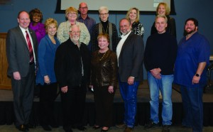 Area mayors and county officials at the Denton County Mayors Crime Luncheon. (Photo by Bill Castleman)