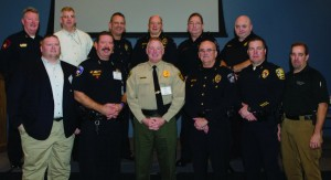 Police chiefs and law enforcement officials at the Denton County Mayors Crime Luncheon. (Photo by Bill Castleman)