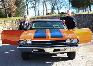 Karen and Roger Day found the Chevy hot rod that Roger had bought new in 1969 and owned when they went on their first date. (Photo by Foust Photography)