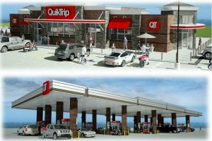 Rendering of proposed QuikTrip convenience store and gas station in Flower Mound.