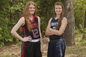 Argyle's Vivian Gray and Liberty Christian's Sydney Goodson contributed to their respective team's success on the court during the last two seasons. (Photo by Helen's Photography)