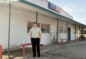 Bartonville Mayor Bill Scherer at the former Bartonville Store. (Photo by Helen's Photography)