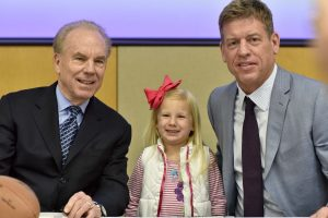 Roger Staubach, Kamryn Rakestraw, and Troy Aikman