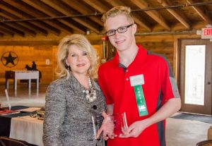 Briarhill Middle School eighth-grader Caelix Kidwell was named the March Student of the Month.