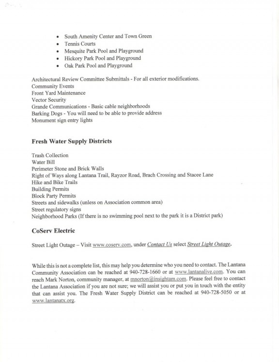 Lantana Community Association Agenda