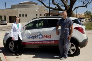 Rapid Med Urgent Care's Michelle Triche and Anton Appelqvist will be making house calls. (Photo by Helen's Photography)