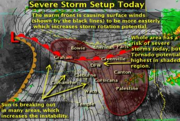 Severe weather expected