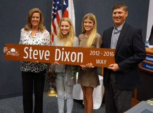 Steve Dixon and family.