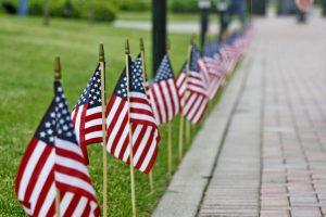 Flags Lining Sidewalk EDIT