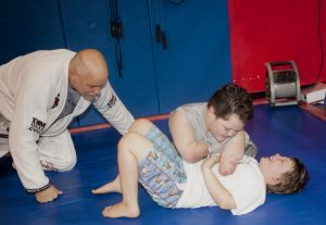 Memphis Lafferty shows off his moves at North Texas Mixed Martial Arts. (Photo by Helen's Photography)