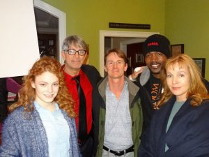 "On the movie set of ""Unbridled"" are Tea McKay, Eric Roberts, John David Ware, TC Stallings, and Dey Young."