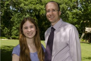 Scholarship winner Emily Brown and dad, Dr. Kent Brown (mother, Julie Brown, not pictured).