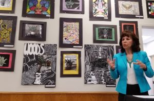 Annette Weir, a member of the Flower Mound Cultural Arts Commission, wants the arts to have a higher profile in southern Denton County.