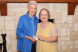 Jerry McKinnis, 2015 Volunteer of the Year, and Mary Kay Walker, Volunteer Coordinator.