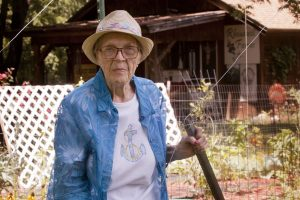 Country living in suburbia suits Aunt Faye just fine. (Photo by Helen's Photography)