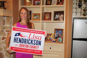 Lisa Hendrickson of Lantana is looking to unite Republicans across sprawling Denton County.