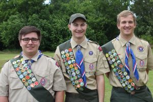 Vincent Cunningham, Brad Sullivan and Zachary Schermerhorn recently became Eagle Scouts.