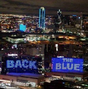 back the blue dallas 2016