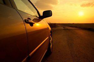 car sun hot