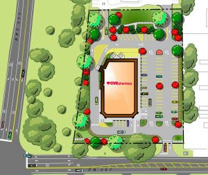 CVS Pharmacy proposed site plan.