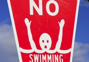 no swimming sign stroup