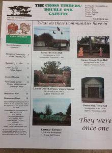 The Cross Timbers Gazette, November 2002.