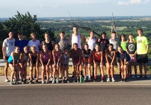 Liberty Christian School's Cross Country team.
