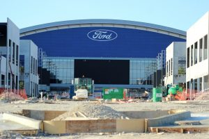 Front view of the Ford Center. (Photo by Steve Southwell/The Lewisville Texan Journal)