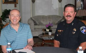 Bob Weir and Highland Village Police Chief Doug Reim. (Photo & Video by Netsky Rodriguez)