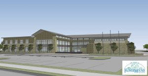 Rendering of Flower Mound's new town hall.