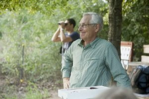 Lewisville Lake Environmental Learning Area's Director, Dr. Ken Steigman, researches migrating songbirds each spring and fall at the nature preserve. (Photo by Helen's Photography)