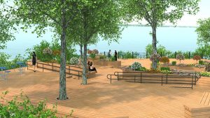 The new 6,000 sf plaza overlooking Lake Grapevine is expected to become a popular gathering spot for residents and visitors to Lakeside DFW.
