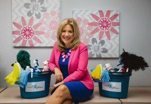 Debbie Sardone of Flower Mound, founder and president of nonprofit Cleaning For A Reason.