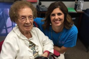 Erna Olsen was honored by students and staff at Old Settlers Elementary in Flower Mound.