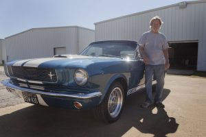David Bell of Argyle spends his days under the hood of classic cars at Northwest Regional Airport. (Photo by Helen's Photography)