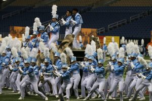 FMHS Band at 2016 Bands of America Super Regionals. (Photo by Ron Nadwodny)