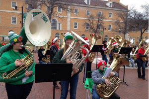 At noon on Dec. 24, UNT College of Music tuba and euphonium players will gather at the University of North Texas Library Mall to present an afternoon of free holiday tunes.
