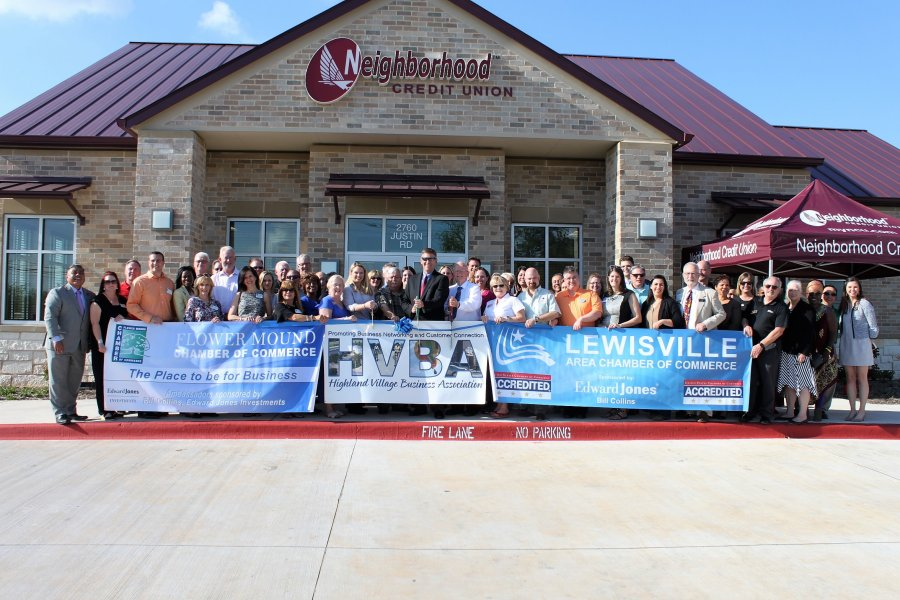 Almost Exactly Six Months After Breaking Ground On Its First Denton County Location Neighborhood Credit Union Welcomed Dozens Of Local Community And