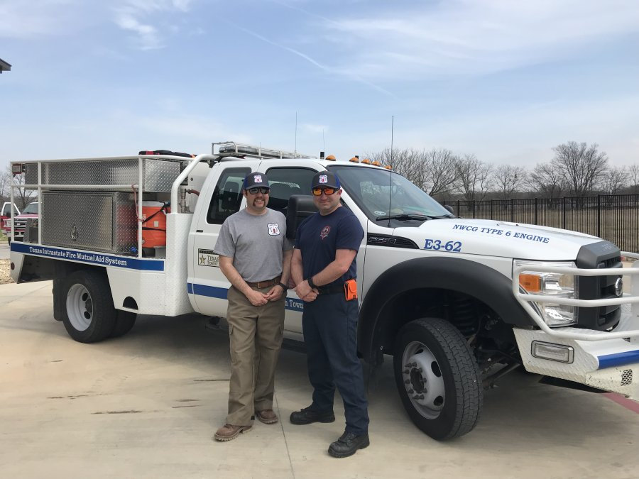 The Flower Mound Fire Department provided aid to fight wildfires in the Texas Panhandle. (Photo courtesy of Town of Flower Mound)