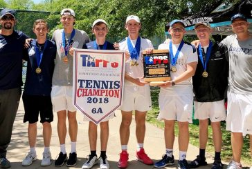 Liberty boys tennis brings home first title