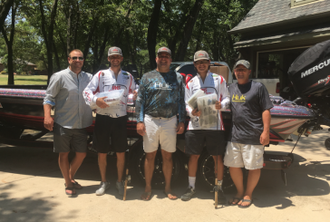 Denton County Bass Club presents tackle donation to Argyle HS BASS team
