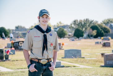 Boy Scout honors father, serves community through indexing graves