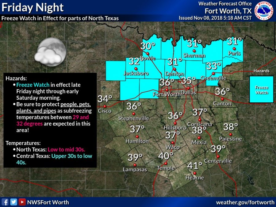 Freeze Watch issued for Denton County on Friday night - The