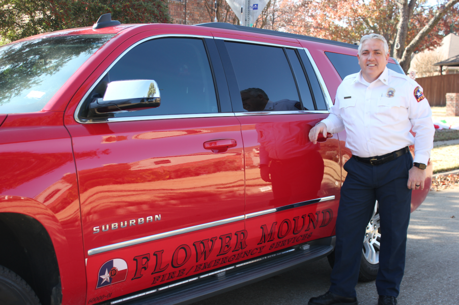 Flower Mound Fire Department Chief Eric Greaser (photo and video by Netsky Rodriguez).