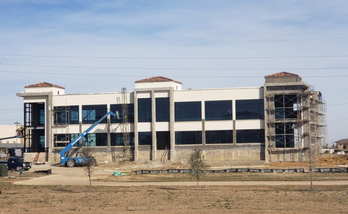 Lakeside office building nearing completion