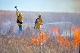 Prescribed burn on The Flower Mound cut short