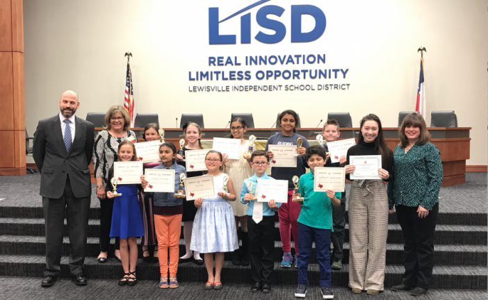 LISD elementary students celebrated for success in Writing Project