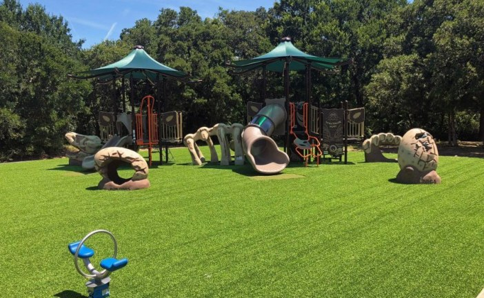 Dino-themed upgrades completed at Flower Mound park