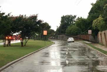 Storm causes wind damage
